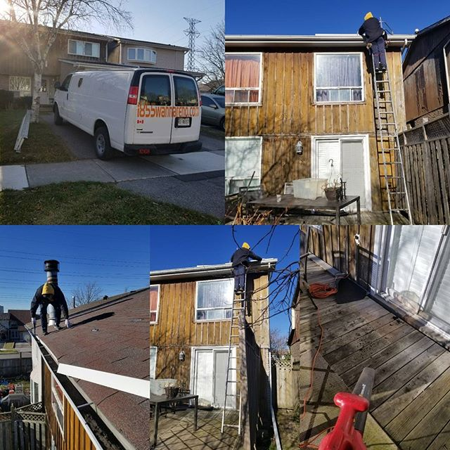 Eavestrough repair Pickering