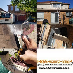 Eavestrough repair and cleaning done in