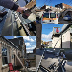 Eavestrough installation in Whitby
