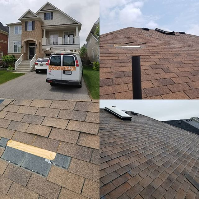 Roof repair in Whitby (Brooklin)