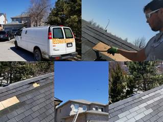 Roof repair in Durham Region. Canada.