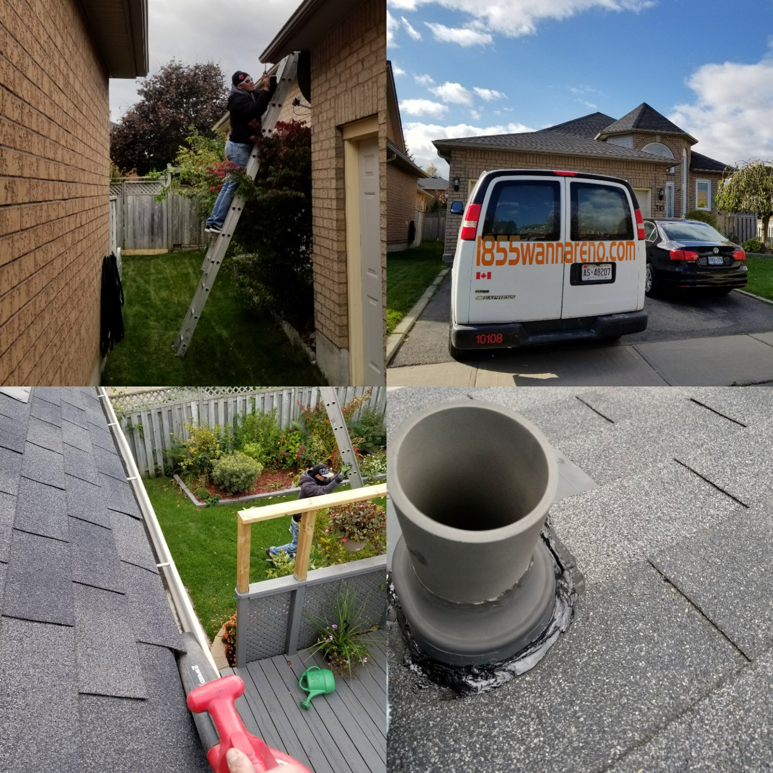 Roof repair and eavestrough cleanup