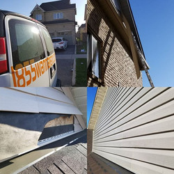Siding repair done in Whitby after the s
