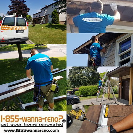 Eavestrough Soffit and fascia installati