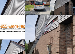 Full Siding repair and fascia installation in Ajax