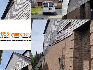 Full Siding repair and fascia installation in Ajax