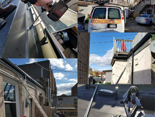 Seamless Eavestrough installation in downtown Whitby