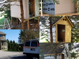 Siding, Soffit, fascia and capping installation on a tree house in Ashburn (Whitby)