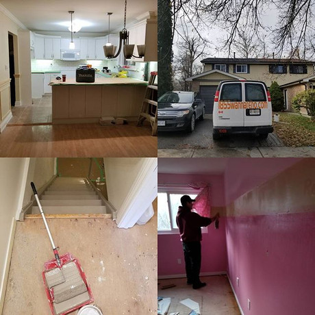 Interior wallpaper removal-Painting