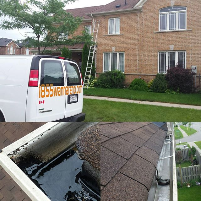 Eavestrough repair in Ajax