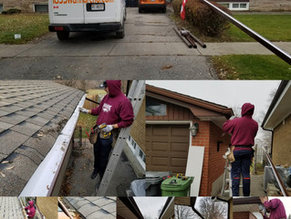 Seamless Eavestrough installation and downpipes relocation in Toronto,Scarborough. Whitby, Oshawa, A