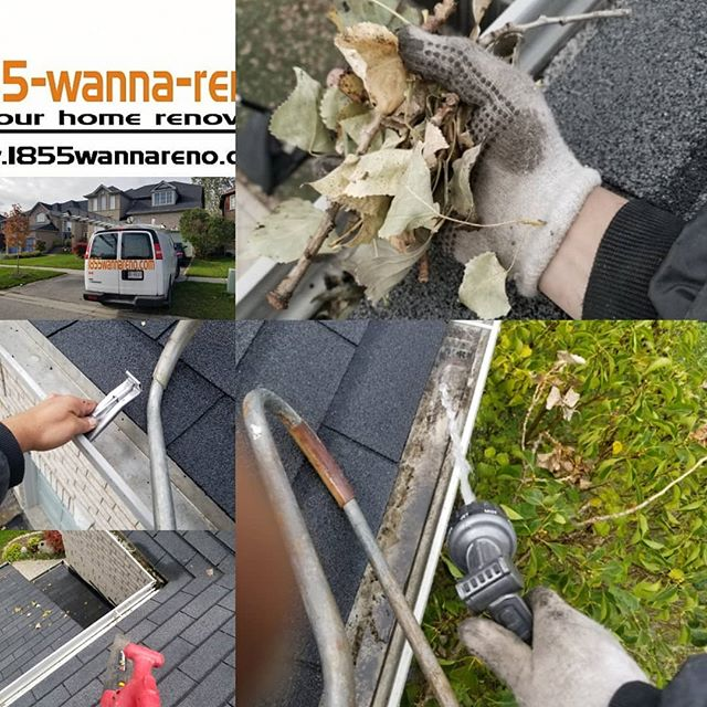Eavestrough repair and cleaning in Picke