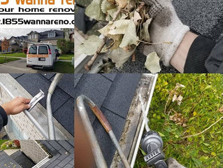 Spring Eavestrough (gutter) maintenance, repair and cleaning