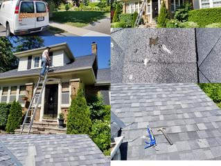 Roof repair in Brooklin.Durham (Whitby)