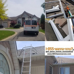 Eavestrough and downpipes installation d