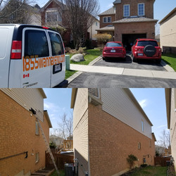 Siding repair in Whitby Durham.On