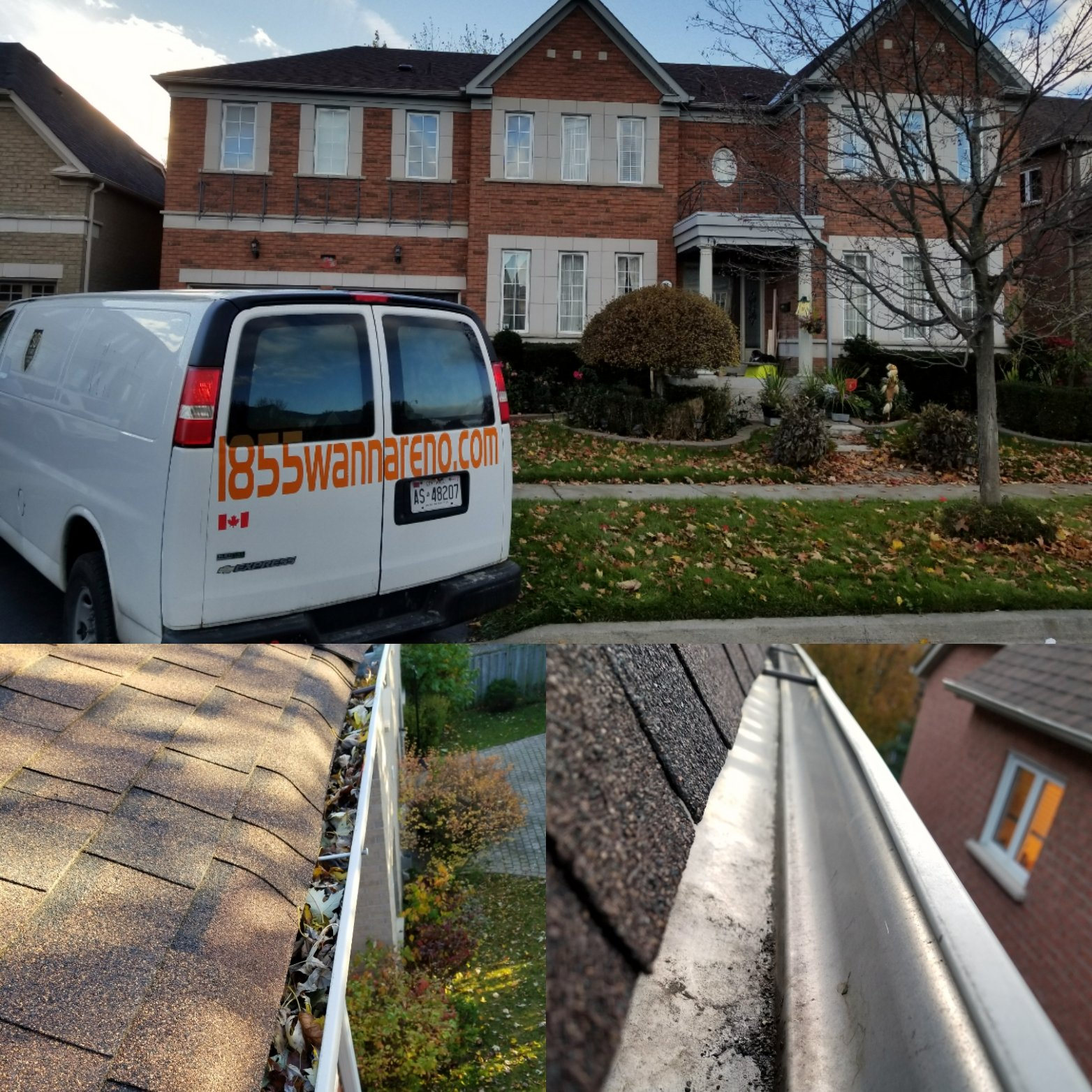 Eavestrough repair in Pickering