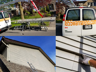 Fascia and Siding repair in Whitby. Storm damages