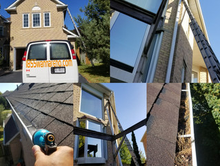 Eavestrough repair, Eavestrough cleaning and Downpipes installation in Ajax