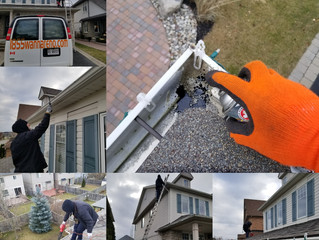 Eavestrough repair and cleaning in Whitby