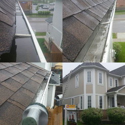 Emergency call. Eavestrough cleaning and Eavestrough repair in Whitby. Before and after pictures