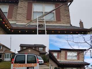 Eavestrough installation and repairs in Whitby Durham. Oshawa Pickering Ajax