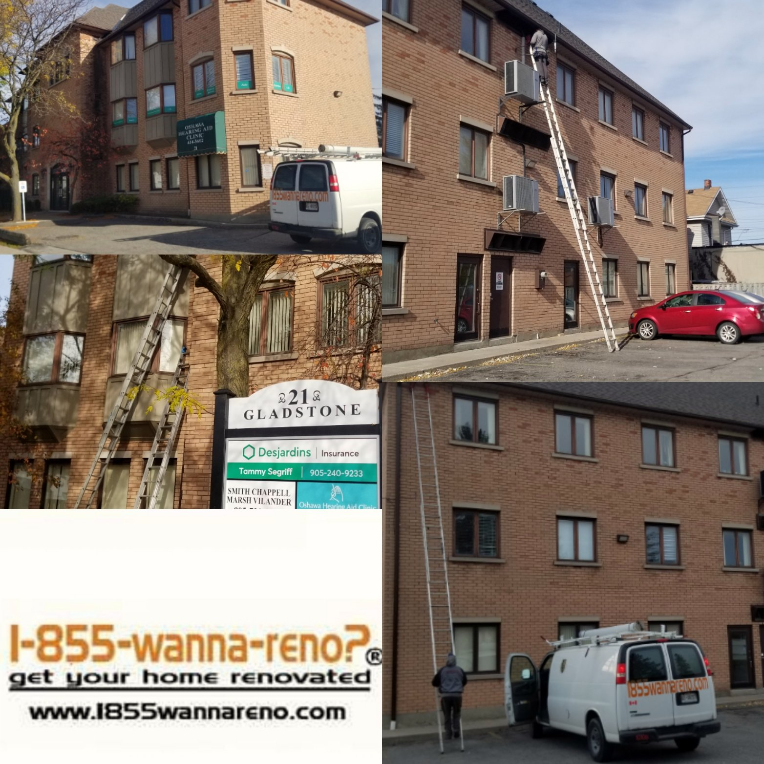 Eavestrough repair, cleaning, leafguard and downpipes installation in Oshawa