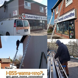 Seamless eavestrough installation and le