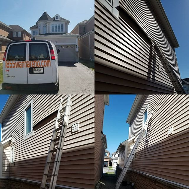 Siding repair done in Port Union (Toront