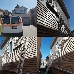 Siding repair done in Port Union (Toront