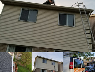 Seamless Eavestrough installation in Whitby: 5 inches gutter