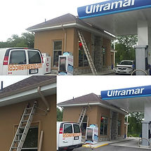 Ultramar gas station Whitby Roof,Eavestrough,Soffit and Fascia installation