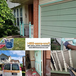 Exterior residential painting in Durham