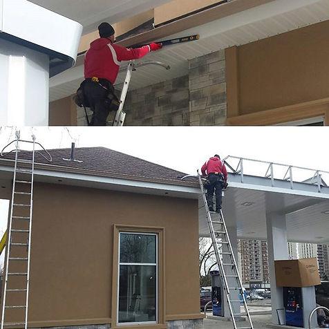 Seamless eavestrough/gutter installation