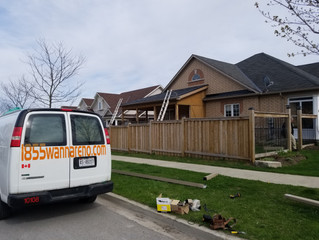 Seamless Eavestrough installation and downpipes relocation in Uxbridge.ON (Whitby,Ajax,Oshawa,Picker