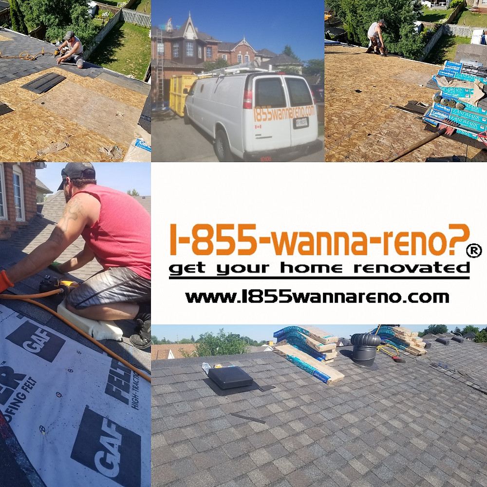 Roof replacement/roofing in Whitby - 1-855-wanna-reno?
