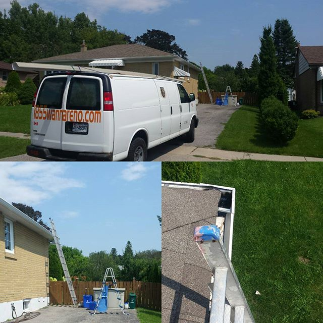 Eavestrough cleaning and repair done