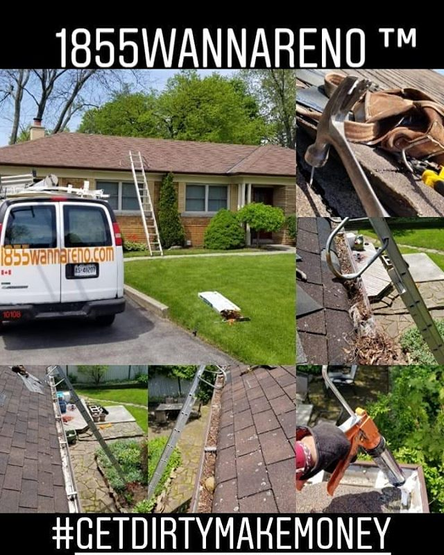 Roof repair, eavestrough repair -clean u