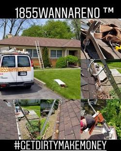 Roof repair, eavestrough repair -clean u