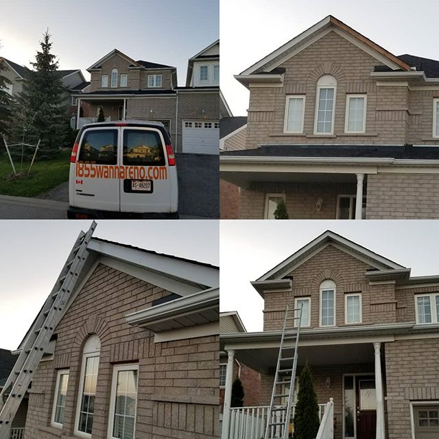Fascia repair done Brooklin (Whitby).
