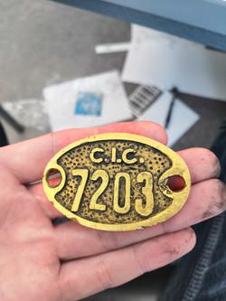 Consett Iron Company, locker tag