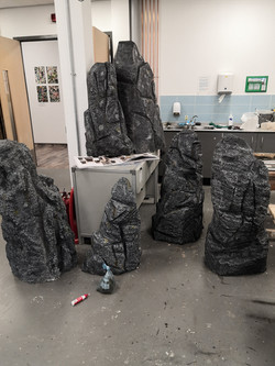 Standing stones created for She Lives Alone (2020)