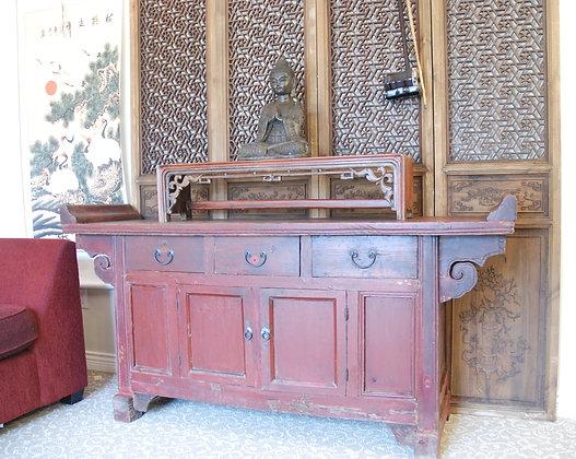 Antique Altal Table Cabinet