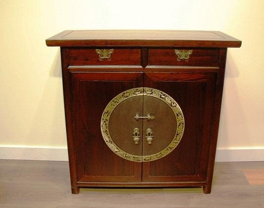 Elm Wood, 2 Doors,2 Drawers Cabinet
