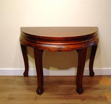 Elm Wood Half Moon Table