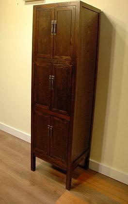 Elm Wood 6 Doors Tall Cabinet