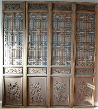 Chinese Wood Screen (set of 4)(each)