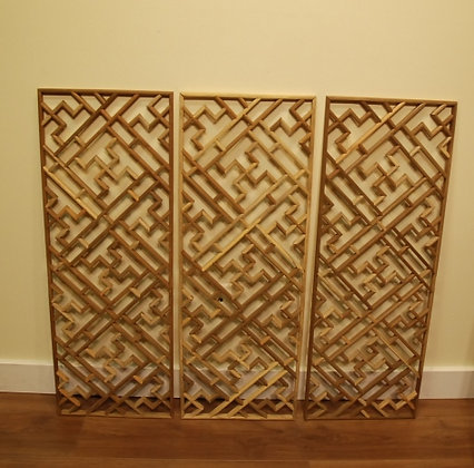 3 Pcs Wooden Screen