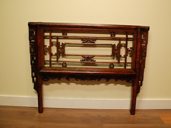 Antique Chinese Carved Wooden Screen