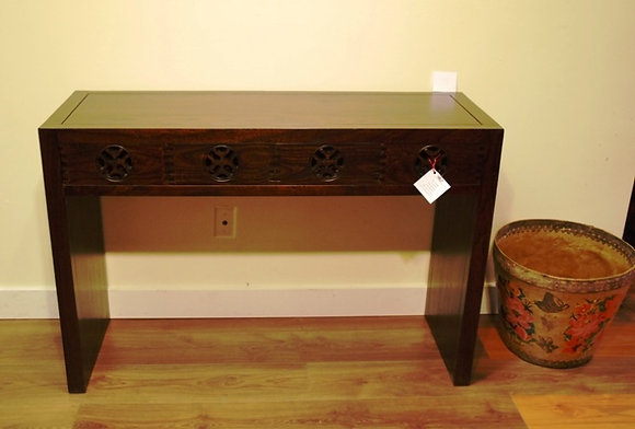 Elm Wood Side 4 Drawers Table